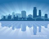 Corpus Christi Texas city skyline vector silhouette — Stock Vector