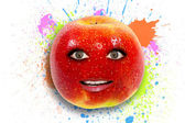 Funny apple — Foto Stock