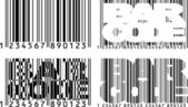 Barcode variations — Stock Vector