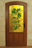 Glasmalerei-Tür — Stockfoto