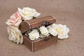 Rustic Wood Box — Stock Photo