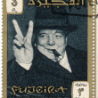 Stamp with image of sir winston churchil — Stock Photo #21235771
