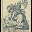 Old Engravings of Horses stamp, circa 1969  — Stock Photo
