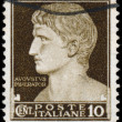 Stock Photo: Augustus Ceasar on italistamp - circ1944