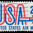 Old airmail postage stamp from USA — Stock Photo