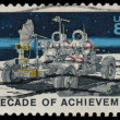 USA stamp - Apollo Moon Mission - Stock Photo