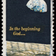 Apollo 8 - moon landing stamp 1969 — Stock Photo #21435765
