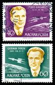 Gagarin und titow stempel — Stockfoto