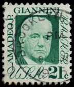 Amadeo P Giannini stamp — Stock Photo
