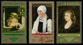 Poštovní známky gdr — Stock fotografie