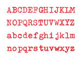 Red letters ABCD — Stock Photo