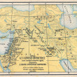 Map from old bible — Stock Photo #22938356