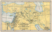 Map from old bible — Stock Photo