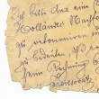 Old handwriting - circa 1881 — Stock Photo