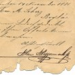 Old handwriting - circa 1881 — Stock Photo #22976754