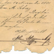 Stock Photo: Old handwriting - circa 1881