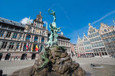 Great Market Square of Antwerp — Stock Photo