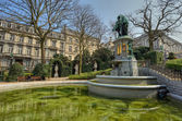 Petite Sablon square in Brussels, Belgium. — Stock Photo