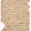 Old german handwriting - circa 1881 — Stock Photo