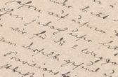 Old handwriting — Stockfoto