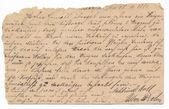 Stary niemiecki pisma - około 1881 — Zdjęcie stockowe