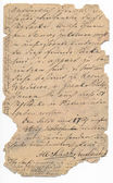 Old german handwriting - circa 1881 — Stock Photo