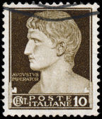 ITALY - CIRCA 1929: A stamp printed in Italy shows Augustus Caes — Stock Photo