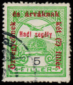HUNGARY - CIRCA 1915: a stamp printed in Hungary shows falcon, c — Stock Photo