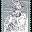 Stock Photo: DDR - CIRC1971: stamp printed in DDR shows Self-Portrait, by