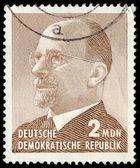 GERMAN DEMOCRATIC REPUBLIC - CIRCA 1965: A stamp printed in Germ — Stock Photo