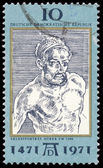 DDR - CIRCA 1971: a stamp printed in DDR shows Self-Portrait, by — Stock Photo