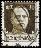 ITALY - CIRCA 1943: Stamps printed in Italy shows image of King — ストック写真