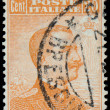 ITALY - CIRCA 1910: A stamp printed in Italy shows image of King — Stock Photo