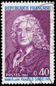 FRANCE - CIRCA 1968: a stamp printed in the France shows Alain R — Stock Photo