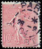 FRANCE - CIRCA 1926: A stamp printed in France, depicts a sower, — Stock fotografie