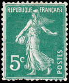 FRANCE - CIRCA 1906: stamp printed by France shows sowing, circa — Stock Photo