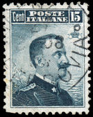 ITALY - CIRCA 1910: A stamp printed in Italy shows image of King — Zdjęcie stockowe