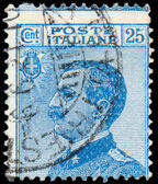 ITALY - CIRCA 1906: A stamp printed in Italy, shows the King of — 图库照片