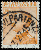 ITALY - CIRCA 1906: A stamp printed in Italy, shows the King of — Stock fotografie