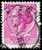 ITALY - CIRCA 1953: A stamp printed in Italy shows Italia Turrit — Stock Photo