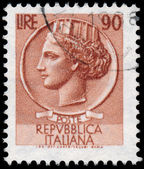 ITALY - CIRCA 1953: A stamp printed in Italy shows Italia Turrit — Стоковое фото