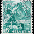 Stock Photo: SWITZERLAND - CIRC1934: stamp printed by Switzerland, shows Mo