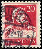 Suisse - circa 1933 : un timbre imprimé dans la sho de suisse — Photo