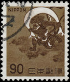 JAPAN-CIRCA 1966: A stamp printed in Japan shows image of the Fu — Foto Stock