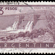 ARGENTINA - CIRCA 1956: a stamp printed in the Argentina shows N — Stock Photo