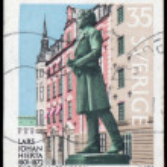 Постер, плакат: SWEDEN CIRCA 1972: stamp printed by Sweden shows Lars Johan H