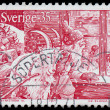 Stock Photo: SWEDEN - CIRC1971: stamp printed by SWEDEN shows SantClaus