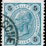AUSTRIA - CIRCA 1899: A stamp printed in Austria shows portrait — Stock Photo
