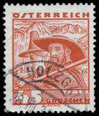 AUSTRIA - CIRCA 1934: A stamp printed in Austria shows Tirol - m — Stock Photo