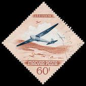 Węgry - ok. 1954: znaczek wydrukowany przez węgry, pokazuje aiation da — Zdjęcie stockowe